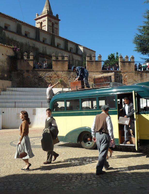 Rodaje de 'Miel de naranjas' en Linares de la Sierra